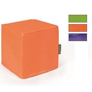 Sitzwürfel in grün, orange oder lila