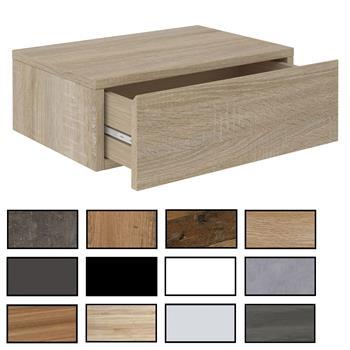 Hängende Nachtkommode ANNE mit 1 Schublade, verschiedene Farben