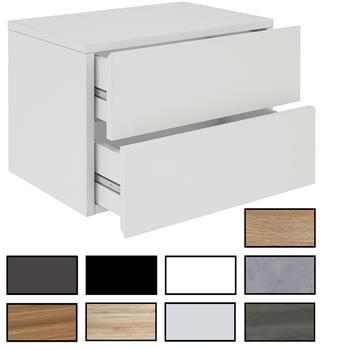 Wandregal Nachtschrank ANNI mit 2 Schubladen in verschiedenen Farben