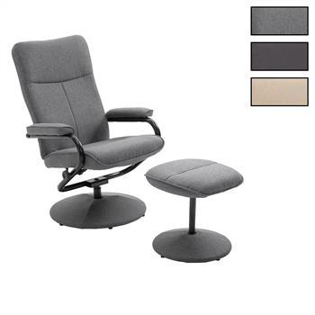 Relaxsessel DAKOTA mit Hocker in verschiedenen Farben