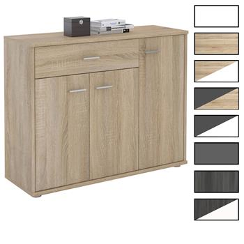 Kommode ESTELLE mit 3 Türen, 1 Schublade in 2 Farben