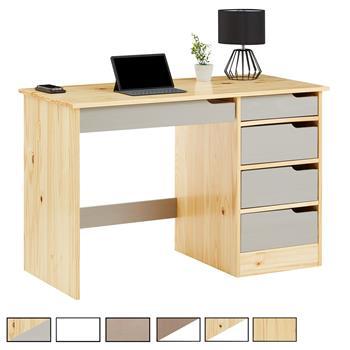 Schreibtisch in Kiefer massiv verschiedene Farben
