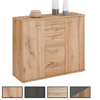 Sideboard JAMIE 2 Türen, 4 Schubladen