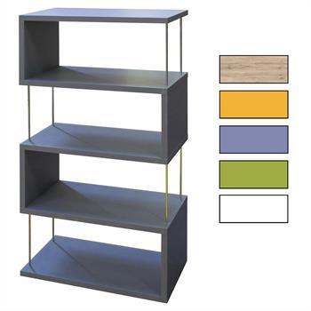Standregal mit 4 Fächern in 5 Farben
