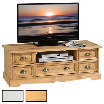 TV Lowboard 5 Schubladen, 1 Fach, 2 Farben