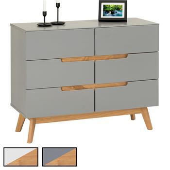 Sideboard 6 Schubladen, skandinavischer Stil