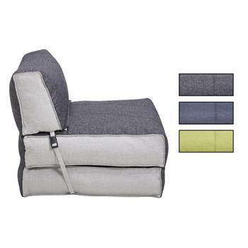Schlafsessel TOGO in grau, grün oder blau / weiss