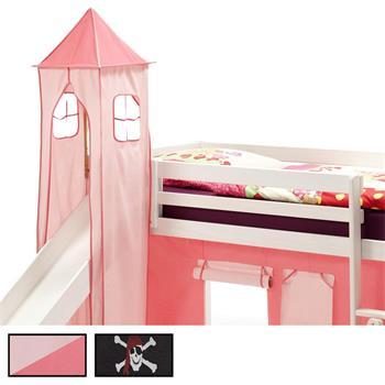 Turm MAX zum Bett mit Rutsche in verschiedenen Farben
