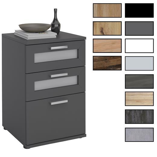 nachttisch boxspringbett nachtschrank kommode konsole beistell 3 schubladen ebay. Black Bedroom Furniture Sets. Home Design Ideas