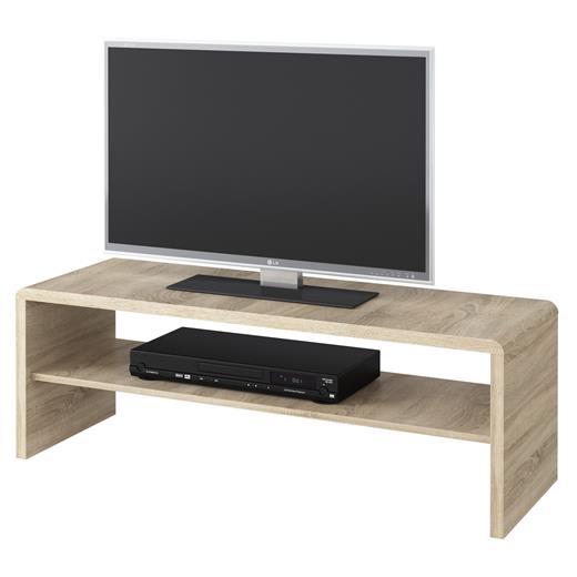 couchtisch tv lowboard fernsehtisch in sonoma eiche 120 x 40 cm mit ablage ebay. Black Bedroom Furniture Sets. Home Design Ideas