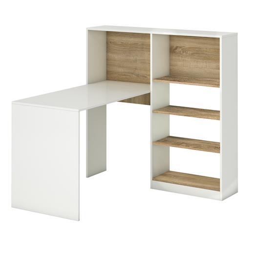 Schreibtisch weiß mit regal  Eckschreibtisch Schreibtisch Bürotisch Winkel PC Jugend Regal weiß ...
