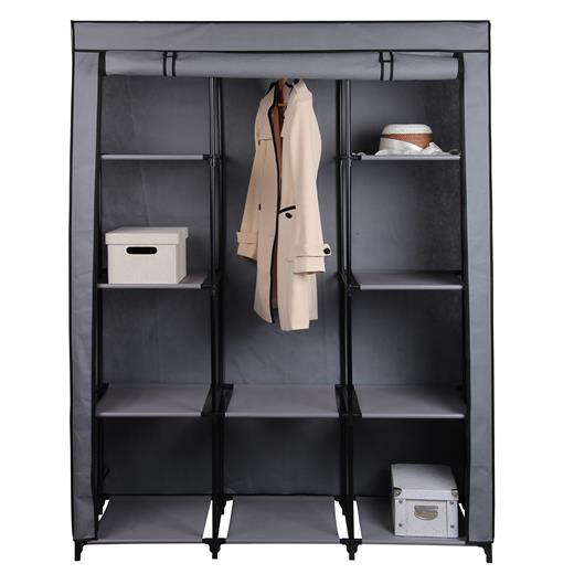 kleiderschrank faltschrank aus stoff textil vlies camping w sche camping schrank ebay. Black Bedroom Furniture Sets. Home Design Ideas