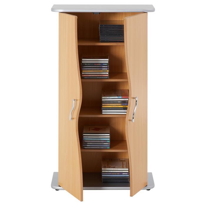 CD/DVD Schrank im Buche-Dekor