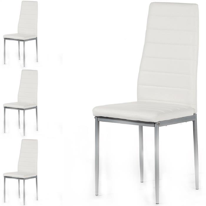 Esszimmerstuhl, 4er Set in weiß