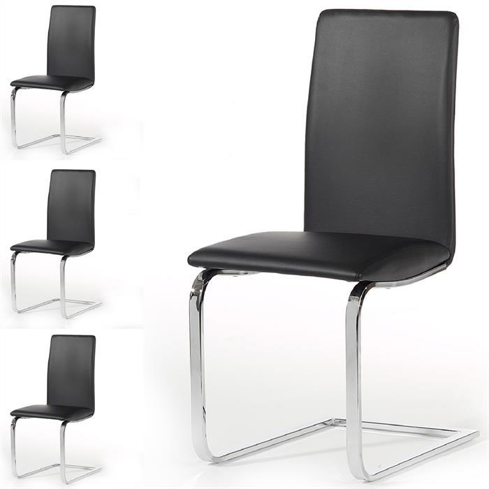 schwingstuhl 4er set in schwarz caro m bel. Black Bedroom Furniture Sets. Home Design Ideas