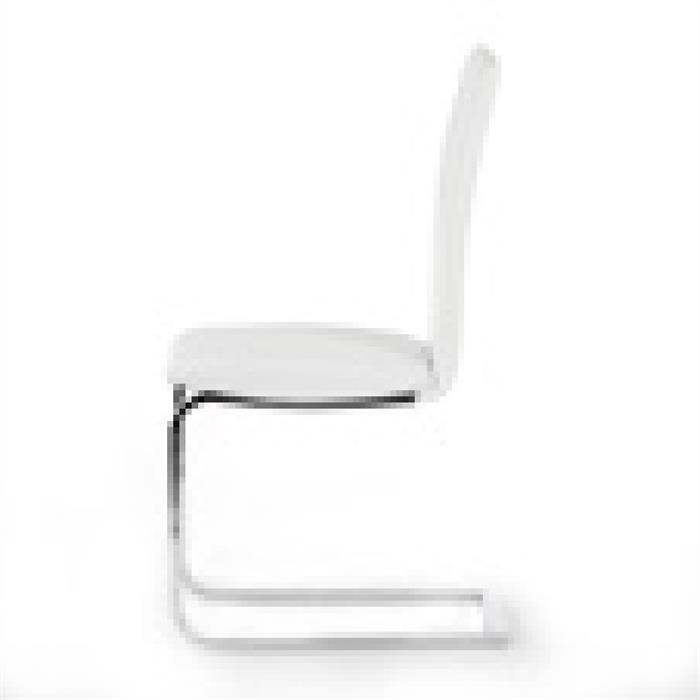 Schwingstuhl 4er Set in weiß