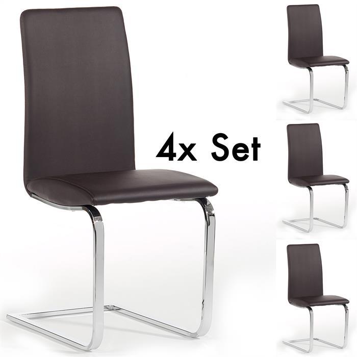 schwingstuhl 4er set in braun caro m bel. Black Bedroom Furniture Sets. Home Design Ideas