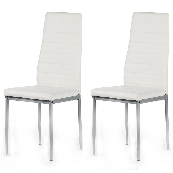 Esszimmerstuhl, 2er Set in weiß