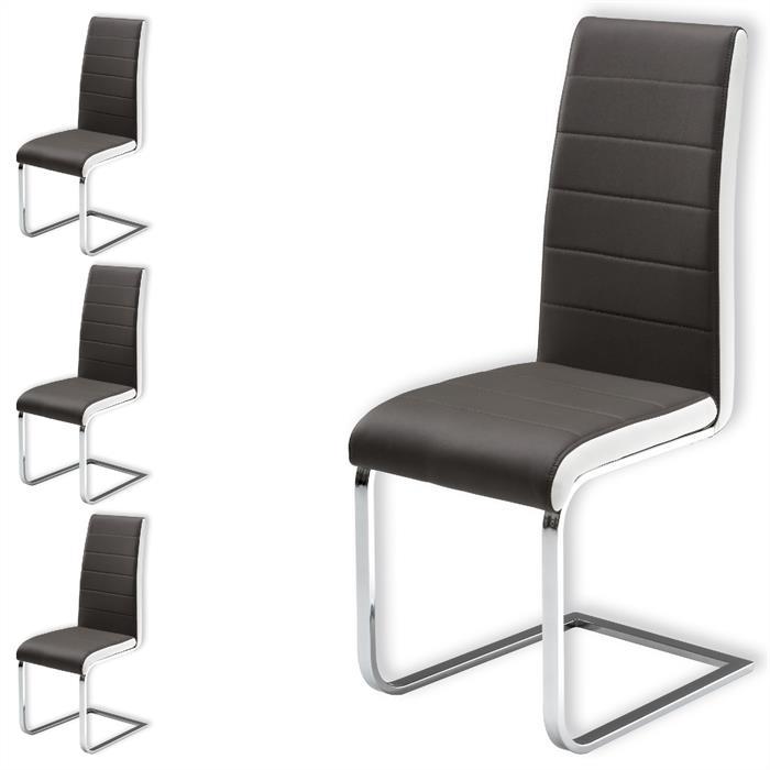 schwingstuhl im 4er set in grau caro m bel. Black Bedroom Furniture Sets. Home Design Ideas