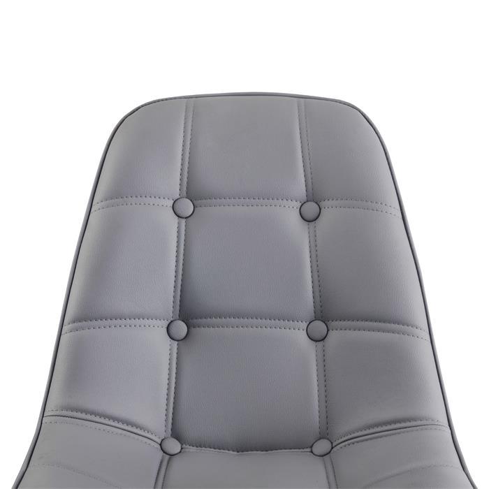 4er Set Design Esszimmerstuhl CESAR grau
