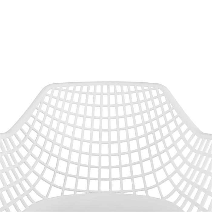 4er Set Esszimmerstuhl im Retro-Look in weiß