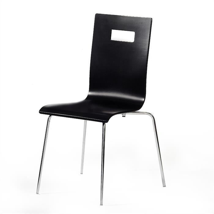 Stuhl WILMA im 4er Pack in schwarz