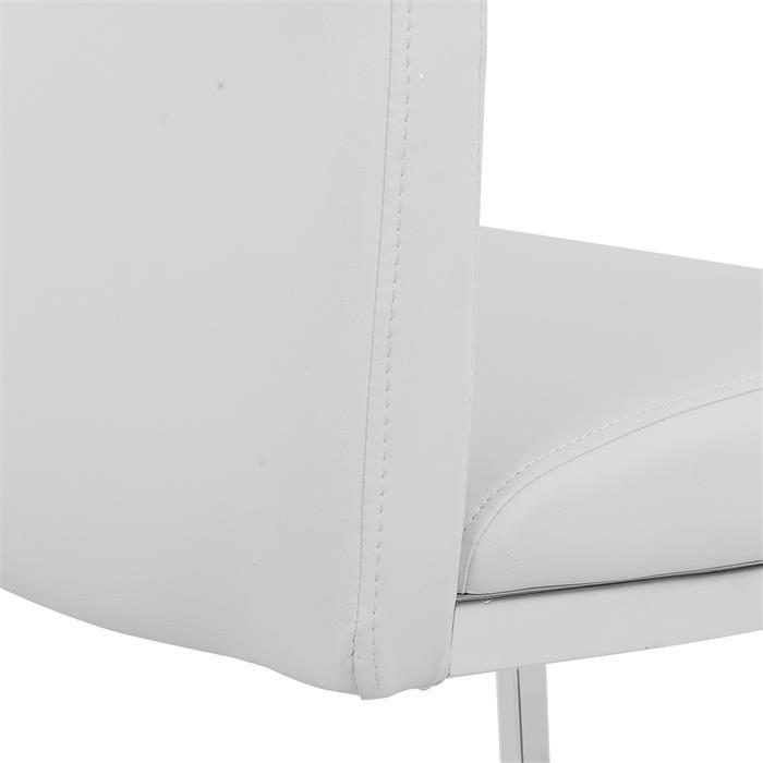 Schwingstuhl DORA im 2er Set, in weiß
