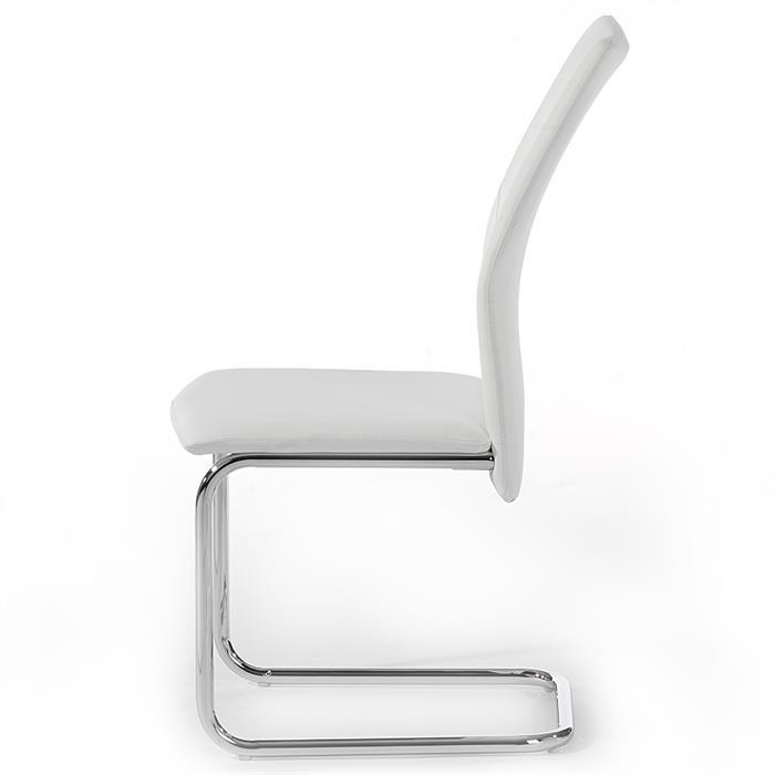 4er Set Schwingstuhl ELLA in weiß