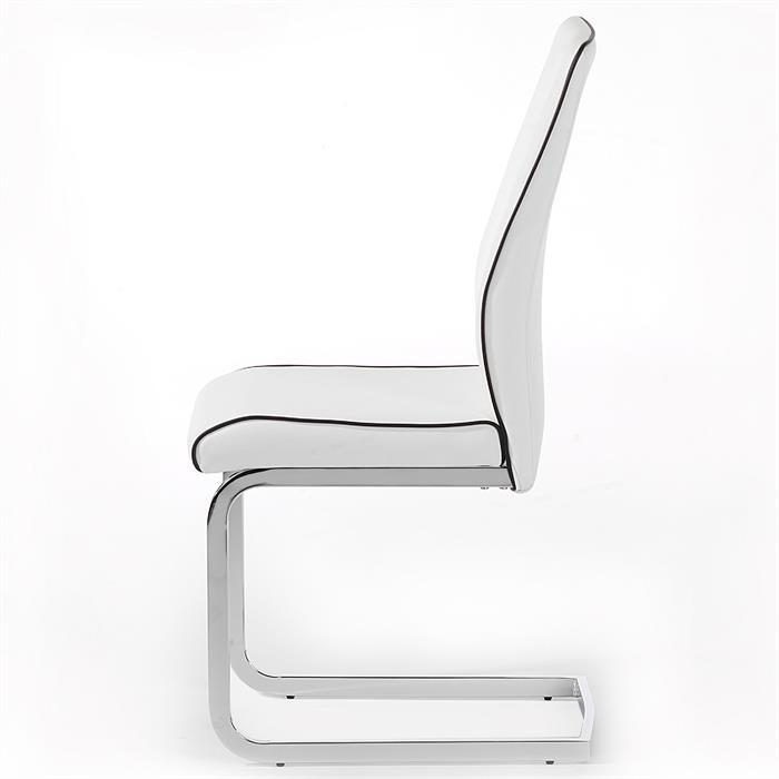 4er Set Schwingstuhl MERLE in weiß