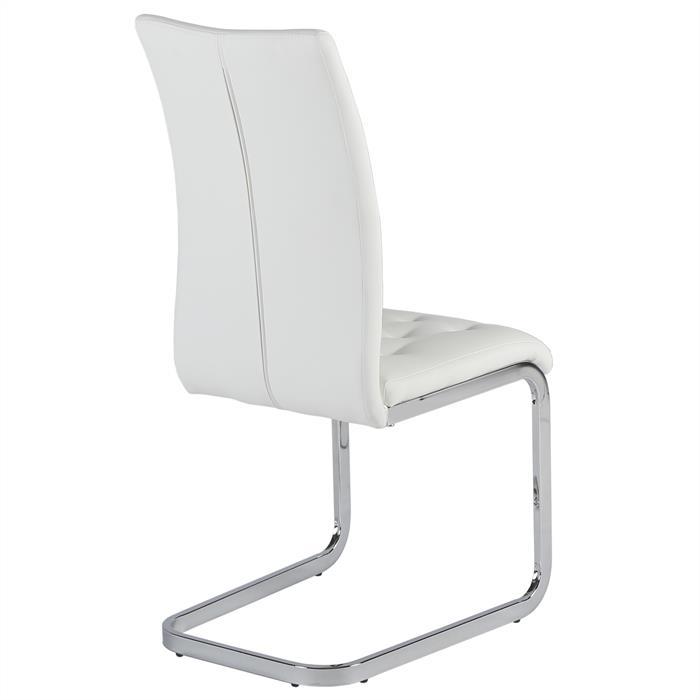 Schwingstuhl 4er Set mit Steppung in weiß