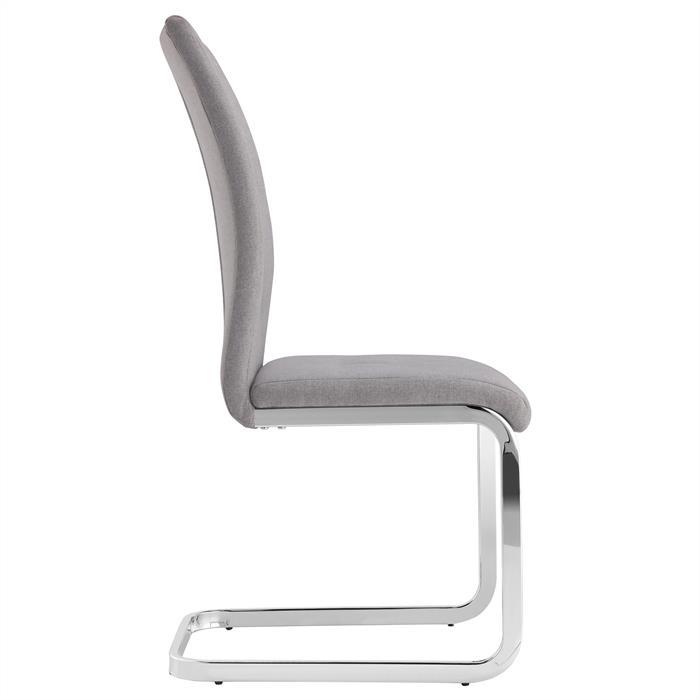 4er Set Schwingstuhl, modern in grau