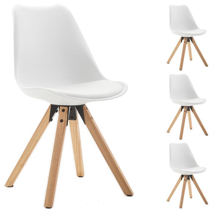 4er Set Stuhl Kunststoff, weiß