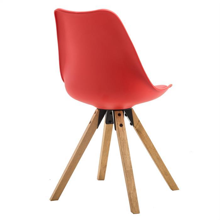 4er Set Stuhl aus Kunststoff in rot