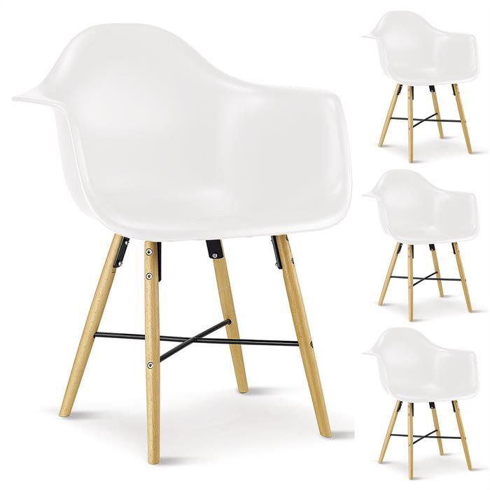 Stuhl 4er Set weiß