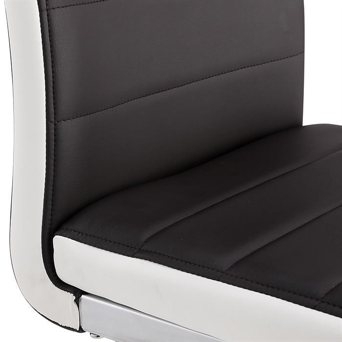 Schwingstuhl im 4er-Set IGOR in braun/weiß