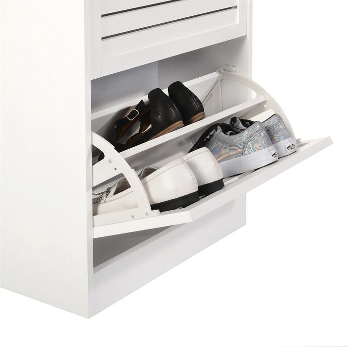 Schuhkipper DAFINA in weiß mit 2 Klappen