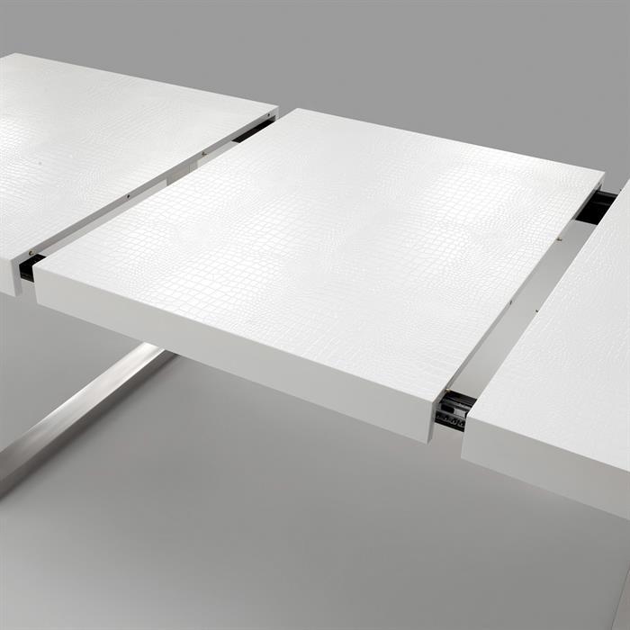 Design Auszugstisch SIDNEY im Kroko-Stil