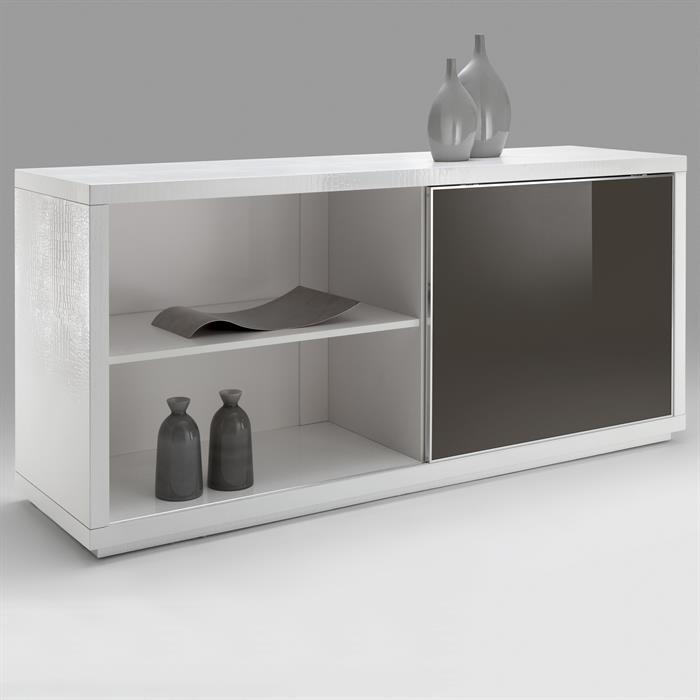 Sideboard SIDNEY Kroko-Optik cappuccino/weiß