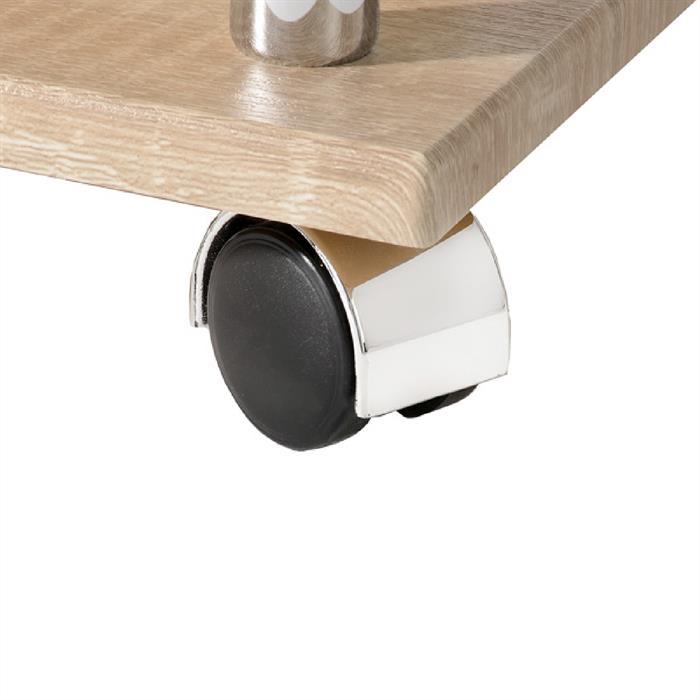 beistelltisch auf rollen im sonoma dekor caro m bel. Black Bedroom Furniture Sets. Home Design Ideas