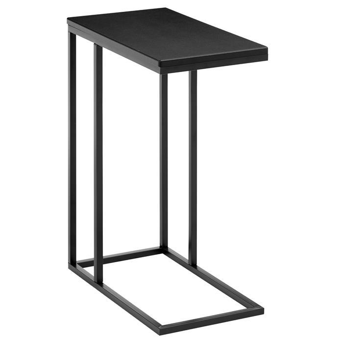 Beistelltisch rechteckig in schwarz, Retro-Stil