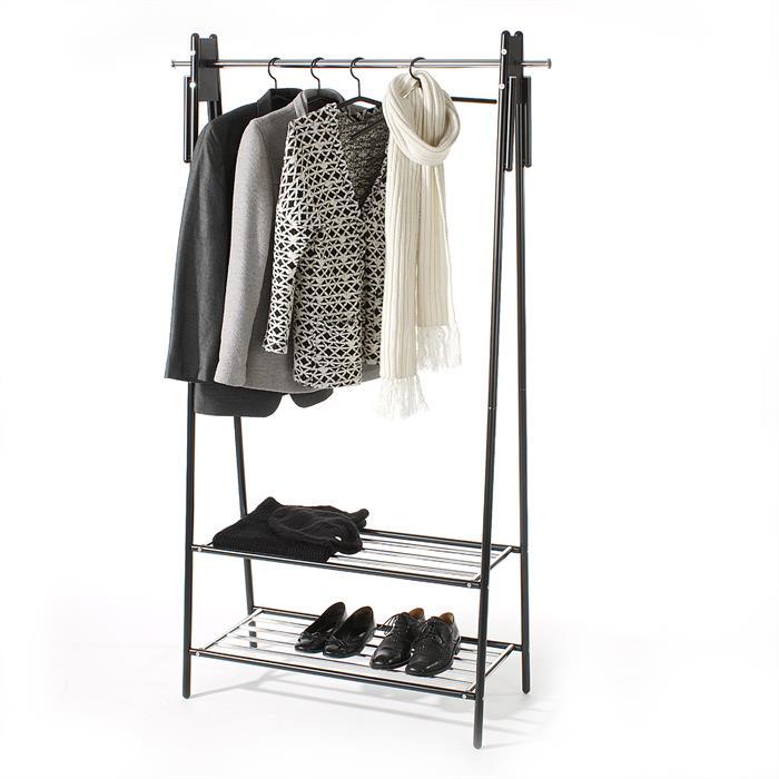Garderobenständer aus Metall, schwarz