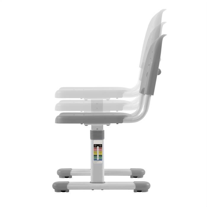 Kinderschreibtisch Set höhenverstellbar inklusive Stuhl, grau