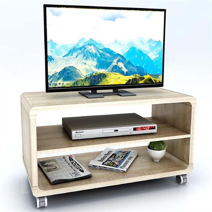 TV-Rack BATU in Sonoma Eiche mit Rollen