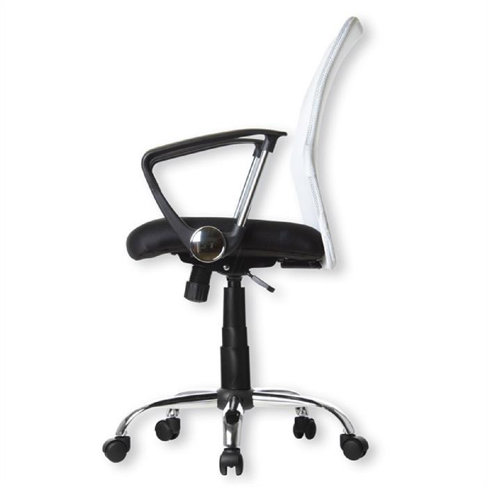 Schreibtischstuhl in weiß-schwarz