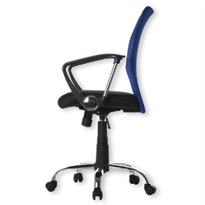 Schreibtischstuhl in blau-schwarz