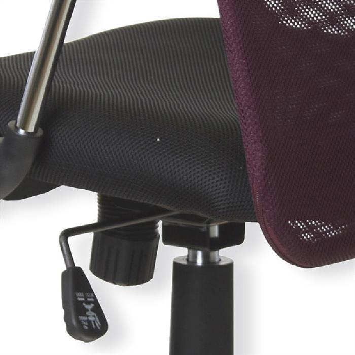 Schreibtischstuhl in pflaume-schwarz