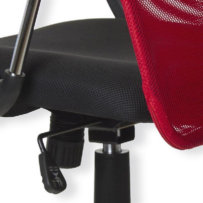 Schreibtischstuhl in rot-schwarz