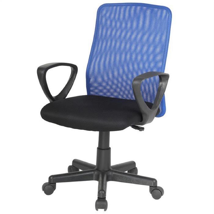 Bürodrehstuhl mit Armlehnen in blau