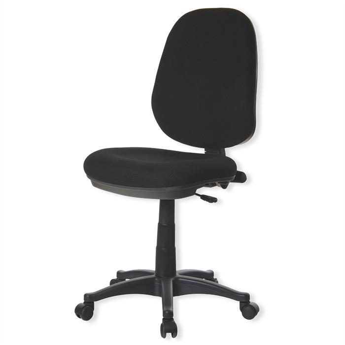 Bürodrehstuhl, höhenverstellbar, schwarz
