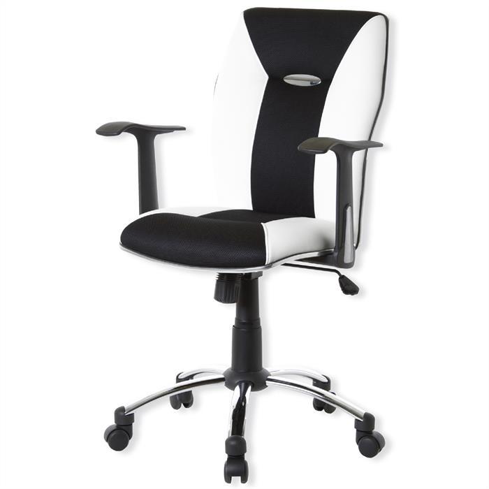 Bürostuhl, höhenverstellbar, schwarz/weiß
